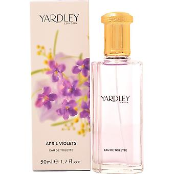 Yardley April Violets Eau de Toilette 50ml EDT Spray