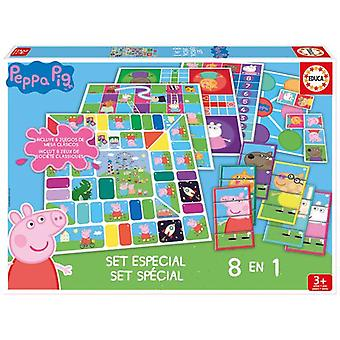 Educa Special September 8 In 1 Peppa Pig (Spielzeuge , Brettspiele , Traditionell)