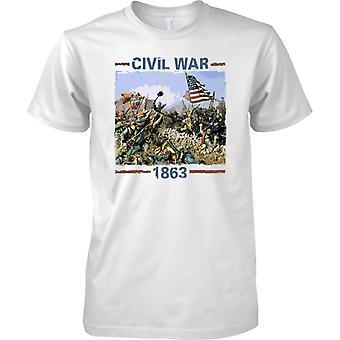 Amerikanischer Bürgerkrieg 1863 - Eidgenossen vs. Union - Kinder T Shirt