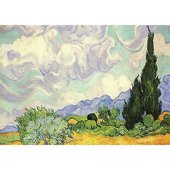 Piatnik Van Gogh - Wheat Field with Cypresses Jigsaw Puzzle (1000 Pieces)