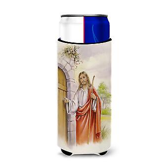 Jesus Knocking at the Door Michelob Ultra Hugger for slim cans