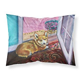 Corgi Watching from the Door Fabric Standard Pillowcase