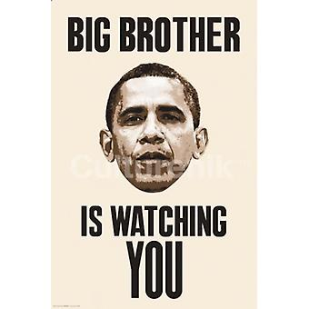 Big Brother is Watching You - Obama Poster Plakat-Druck
