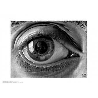 Eye c1946 Poster Print by MC Escher (22 x 16)