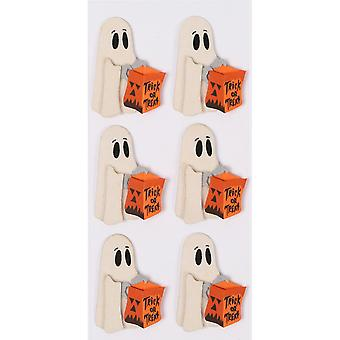 Little B Mini Stickers-Trick Or Treat Ghost LBMINI-2219