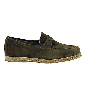 Andrea Ventura Firenze men's CBUF56 brown suede leather moccasins