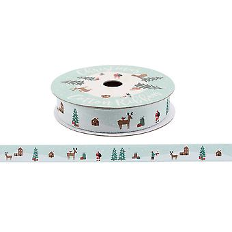 CGB Giftware Christmas Winter Scene Ribbon (5m)