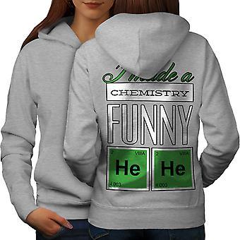Funny Chemistry Geek Women GreyHoodie Back | Wellcoda