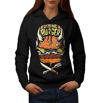 War Burger Food Funny Women BlackHoodie | Wellcoda