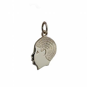 9ct Gold 17x14mm Boy's Head Pendant or Charm