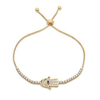 Ladies 18K Gold Plated Drawstring Bracelet