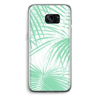 Samsung Galaxy S7 Edge Transparent Case - Palm leaves
