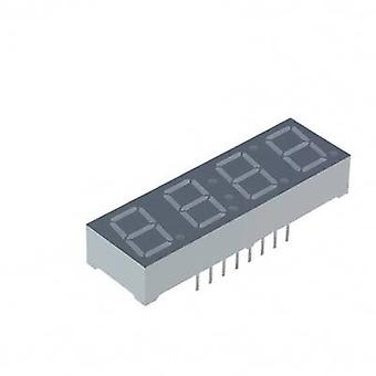 Seven-segment display Yellow 10 mm 2.05 V No. of digits: 4