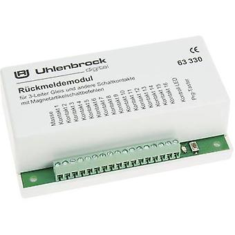 Feedback unit Uhlenbrock 63330 for tracks with 3 conductive rails