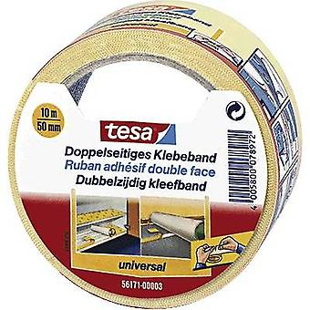 Double sided adhesive tape White (L x W) 10 m x 50 mm tesa