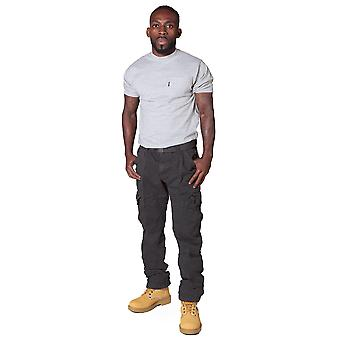 Men's Cargo Trousers with belt - Grey Cargo pants fashion trousers Dark Grey hip