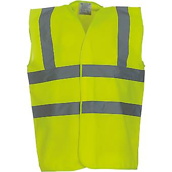 Yoko Mens High Vis 2 Band And Braces Waistcoat