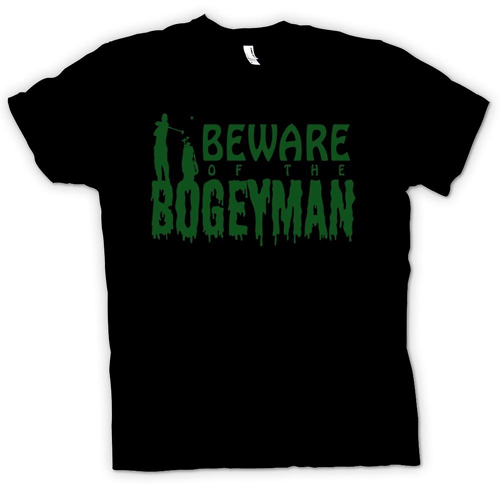 Mens T-shirt - Beware Of The Bogeyman - Funny Horror