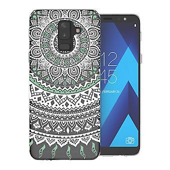 Samsung A6 Plus (2018) Mandala TPU Gel Case - Mint Green