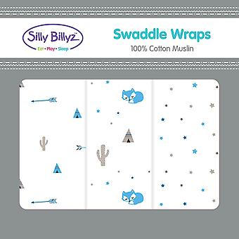 Silly Billyz Swaddle Wrap 3pk diverses conceptions
