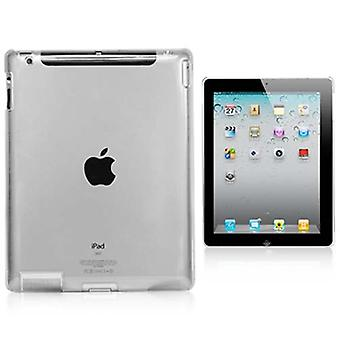 TRIXES Clear Hard Protective Back Case Cover for Apple iPad 2