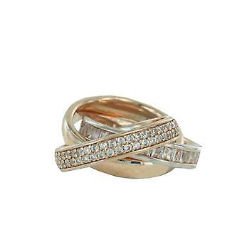 Esprit Collection Damen Ring Silber Rosé Zirkonia Tridelia ELRG92258B