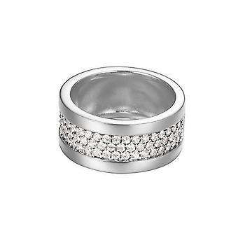 Bague argent zircons cubiques de la femme ESPRIT pave ESRG92215A1 large pure