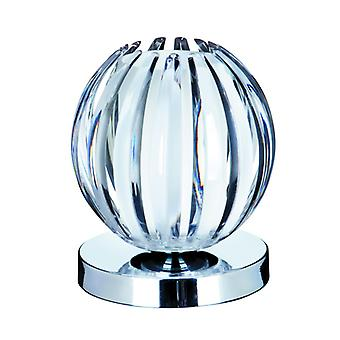 Touch Lamps - Touch Table Lamp, Chrome, Clear Acrylic, Frosted Glass