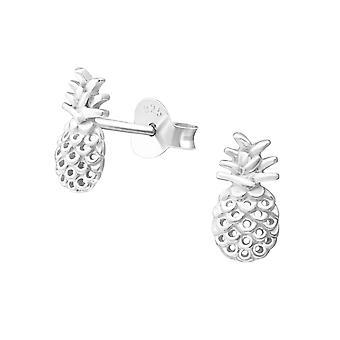 Pineapple - 925 Sterling Silver Plain Ear Studs - W37340x