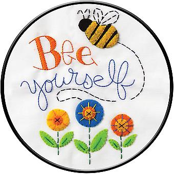 Bee Yourself Stamped Embroidery Kit-8