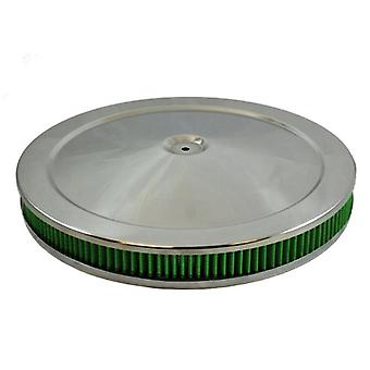Green Filter 2342 Chrome High Performance Air Cleaner Assembly for 2