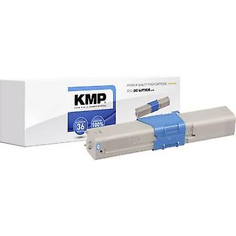 KMP Toner cartridge replaced OKI 44973535 Compatible Cyan 1500 pages O-T37