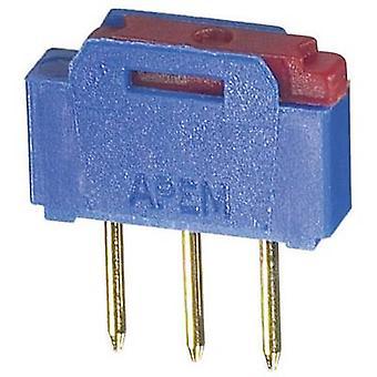 Slide switch 12 V AC 0.5 A 1 x On/On APEM NK236 1 pc(s)