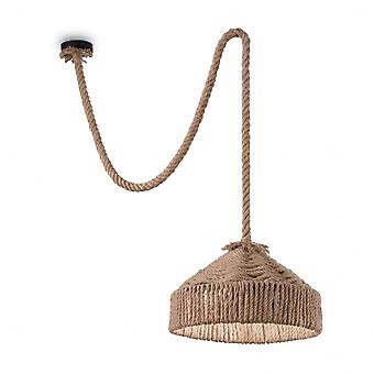 Ideal Lux Canapa Pendant Made From Sailor Rope