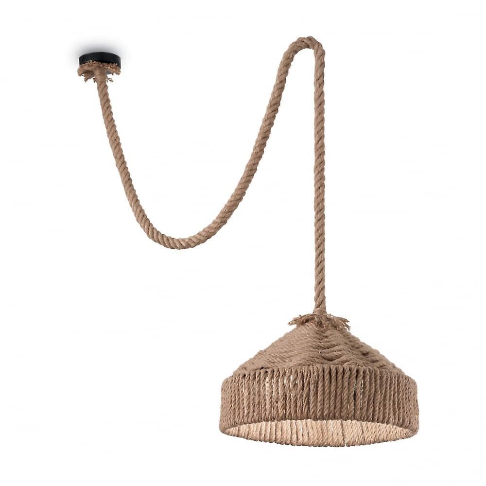 Ideal Lux Canapa pendentif fait de corde de marin