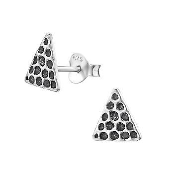 Driehoek - 925 Sterling Zilver Plain Ear Studs