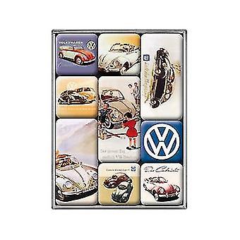 VW Volkswagen Set In vak 9 Mini koelkast magneten