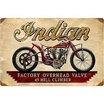 Indisk motorsykler Hillclimber rustne stål tegn 460 X 300 Mm