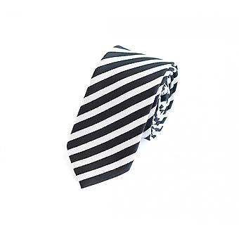 Tie tie tie tie 6cm black grey striped Fabio Farini