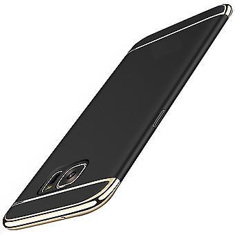 Handy Hülle Schutz Case für Samsung Galaxy A3 2017 Bumper 3 in 1 Cover Schwarz