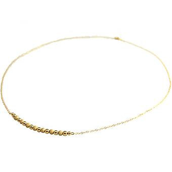 Ladies - necklace - gold plated - STARDUST - sphere - 50 cm