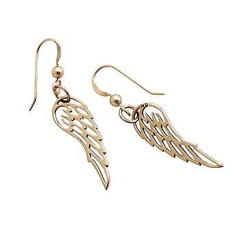 Vingar förgylld ängel Angel Wings brons örhängen guldpläterad