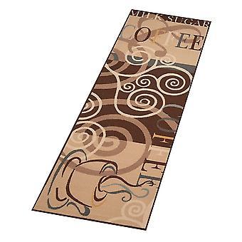 Design kitchen Windrunner coffee ornament Brown 67 x 180 cm