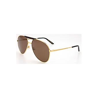 Gucci Brown Aviator Sunglasses Gg0242S 002 59