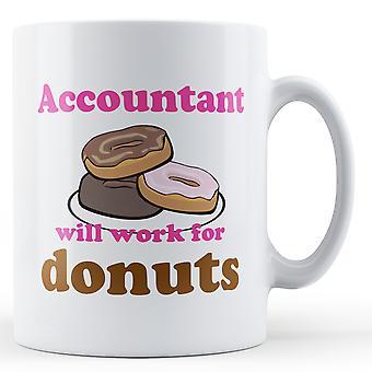 Revisor arbejde For Donuts - trykte krus
