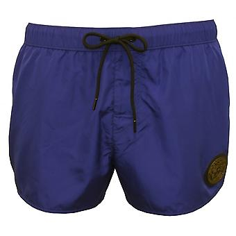 Versace Iconic Piping Luxe Swim Shorts, Bluette/military