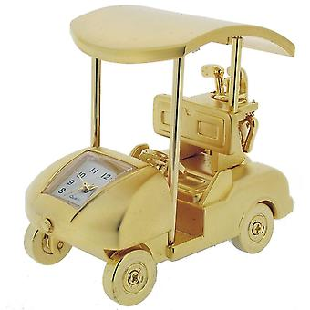 Gift Time Products Golf Cart Mini Clock - Gold