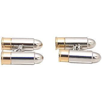 Zennor Shotgun Cartridge Cufflinks - Silver/Gold