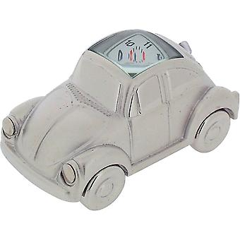 Gift Time Products VW Beetle Style Miniature Clock - Silver