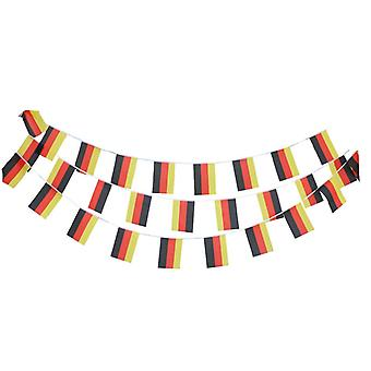 TRIXES 20ft tyska Bunting 12 flagga rektangulära Tyskland Bunting Garland för sportevenemang...